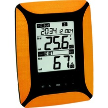 TechnoTrade WS 8610 helles Holz Temperaturstation