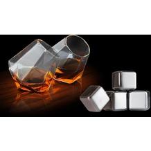 Thumbs Up Whisky-Set Diamond 6tlg. (2 Whiskygläser + 4 Whiskysteine)