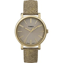 Timex Originals Classic Round Goldtone Case Taupe Dial and Strap