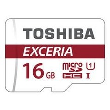 Toshiba EXCERIA M302-EA - microSD Speicherkarte mit Adapter, Class10, 16 GB