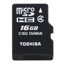 Toshiba HIGH SPEED M102 - microSD Speicherkarte mit Adapter, 16 GB