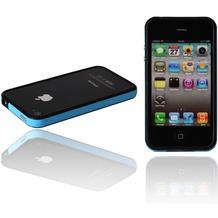 Twins 2Color Bumper für iPhone 4, schwarz-türkis