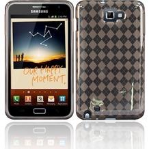 Twins Bright Squares für Samsung Galaxy Note, grau-transparent