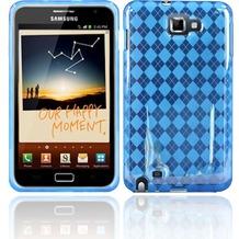 Twins Bright Squares für Samsung Galaxy Note, hellblau