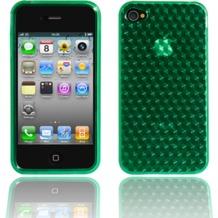 Twins Hexagon für iPhone 4, grün