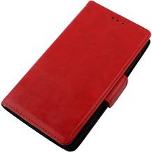 Twins Kunstleder Flip Case für Galaxy Note 4,rot