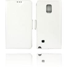 Twins Kunstleder Flip Case für Galaxy Note 4,weiß