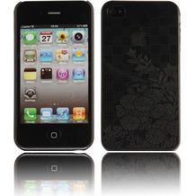 Twins Micro Flower für iPhone 4, schwarz-transparent