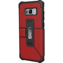 Urban Armor Gear Metropolis Folio Case - Samsung Galaxy S8+ - Magma (rot)