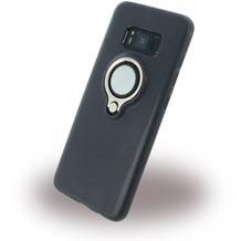 UreParts Ring Halter - Silikon Case / Handyhülle - Samsung Galaxy S8 - Schwarz