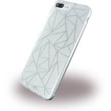 UreParts Tribal Case - Silikon Cover / Schutzhülle - Apple iPhone 7 Plus - Silber
