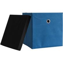 "VCM 10er-Set Faltbox Klappbox ""Boxas"" | Sammelbox Stoffbox Blau"