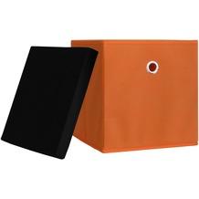 "VCM 10er-Set Faltbox Klappbox ""Boxas"" | Sammelbox Stoffbox Orange"