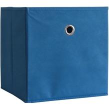 "VCM 2er-Set Faltbox Klappbox ""Boxas"" | Sammelbox Stoffbox Blau"