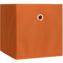 "VCM 2er-Set Faltbox Klappbox ""Boxas"" | Sammelbox Stoffbox Orange"