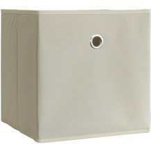 "VCM 2er-Set Faltbox Klappbox ""Boxas"" | Sammelbox Stoffbox Weiß-Natur"