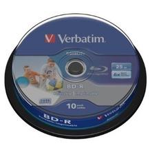 Verbatim BD-R 25GB Verbatim 6x DATALIFE Inkjet white HTL 10er Cakebox