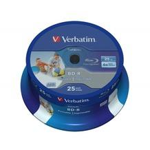 Verbatim BD-R 25GB Verbatim 6x DATALIFE Inkjet white HTL 25er Cakebox