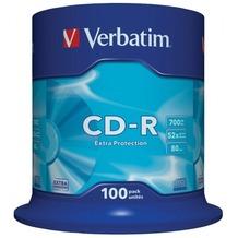 Verbatim CD-R 80 Verbatim 52x DL 100er Cakebox