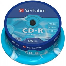 Verbatim CD-R 80 Verbatim 52x DL 25er Cakebox