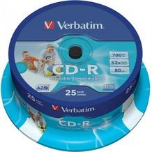 Verbatim CD-R 80 Verbatim 52x DLP Inkjet white 25er Cakebox