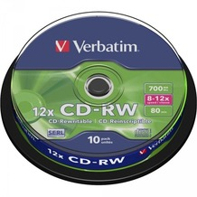 Verbatim CD-RW 80 Verbatim 12x 10er Cakebox