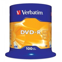 Verbatim DVD-R 4.7GB 16x 100er Cakebox