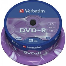 Verbatim DVD+R 4.7GB 16x 25er Cakebox
