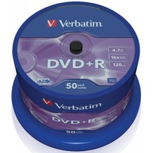 Verbatim DVD+R 4.7GB 16x 50er Cakebox