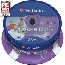 Verbatim DVD+R 8.5GB 8x DL IW FS 25 CB