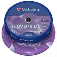 Verbatim DVD+R 8.5GB 8x DL Mattsilver SF 25 CB