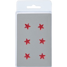 Walther Design Magnete, 6 Sterne, rot