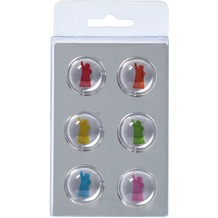 Walther Design Magnete, 6 x Liberty, 6 Farben sort.