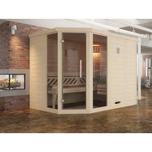 Weka Design-Sauna 528 GT2F Gr.2 OS Fichte Natur