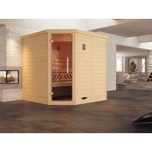 Weka Design-Sauna 528 GT Gr.1 BioS Fichte Natur