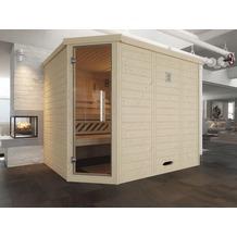 Weka Design-Sauna 528 GT Gr.2 BioS Fichte Natur