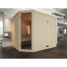 Weka Design-Sauna 528 GT Gr.2 OS Fichte Natur