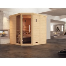 Weka Design-Sauna 528 GTF Gr.1 OS Fichte Natur