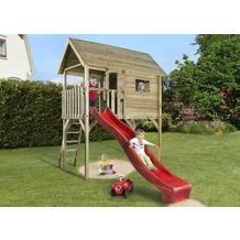 Weka Kinderstelzenhaus 815, mit Wellenwasserrutsche ca. 290 cm, Farbe rot