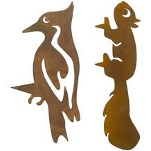 Dekofigur skulptur in der farbe braun for Dekostecker garten