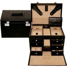 WINDROSE Ambiance Schmuck-/ Uhrenkoffer 34,5 cm Leder schwarz