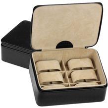 WINDROSE Beluga Uhrenbox 19 cm Leder schwarz