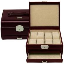 WINDROSE Classico Uhrenbox 19,5 cm Leder braun