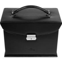 WINDROSE Merino Schmuckkoffer 4 Etagen 8 schwarz
