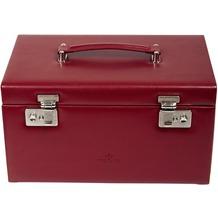 WINDROSE Merino Schmuckkoffer mit 3 Schubladen 0 rot