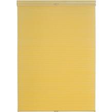 Lichtblick Plissee Klemmfix, Thermo, ohne Bohren  Gelb Breite: 100 cm, Länge: 130 cm