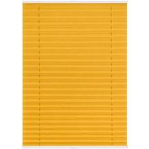 Lichtblick Plissee Klemmfix TOP, ohne Bohren, verspannt  Gelb Breite: 100 cm, Länge: 130 cm