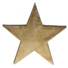 Wohnling Deko Stern Tischdekoration Stars aus Aluminium Farbe Gold