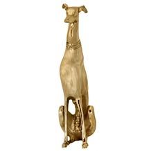 Wohnling Dekoration Design Dog aus Aluminium golden Windhund Skulptur Hundestatue