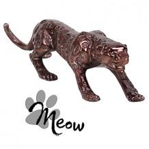 Wohnling Design Deko Figur Panther 60 cm aus Aluminium Farbe Bronze